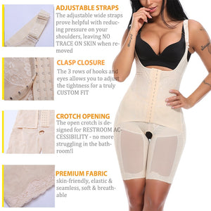 High Waist Full Body Shaper - Seamless Tummy Control Underwear