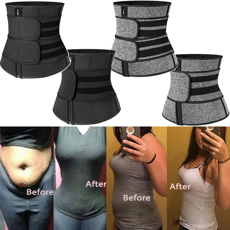 Women Double Compression Flex Sauna Waist Trainer