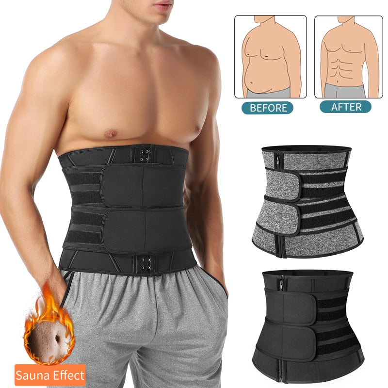 Men Double Compression Flex Sauna Waist Trainer