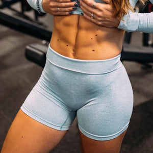 2 piece Seamless Gym Crop Top and Shorts