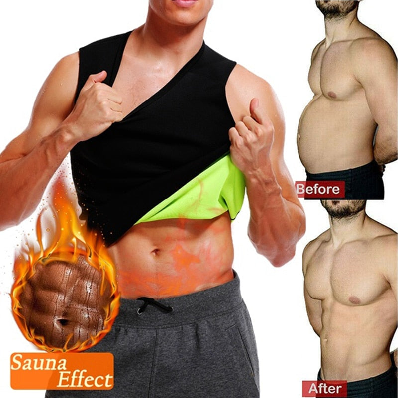 Men's Sauna Vest Body Shaper - Burn Stomach Fat