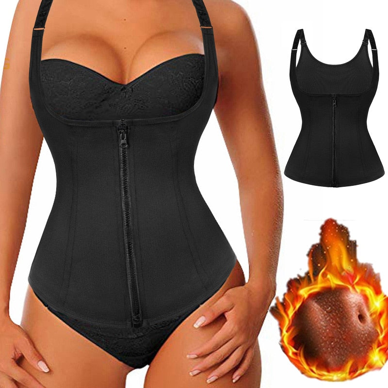 Zip Thong Bodysuit -Waist & Stomach Shaper