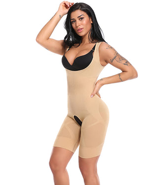 Full Body Shaper - Slimming Bodysuit with Butt Lifter - Easy Bathroom Access