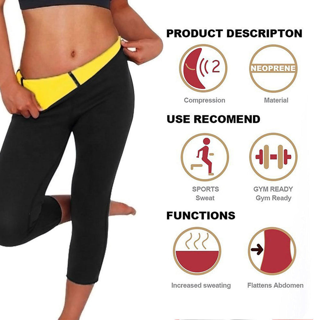 Women Hot Sweat Slimming Body Shaper Fitness Gym Yoga Pants - LARNELEC