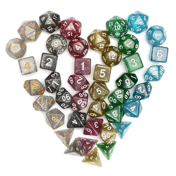 42Pcs Polyhedral Dice Set Games With Bag Velvet Pouches - LARNELEC