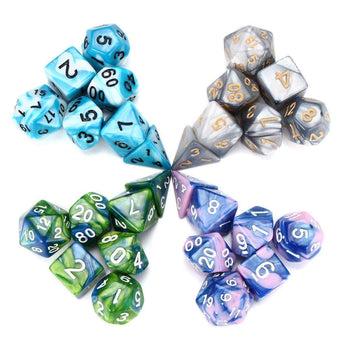 7 Pcs Multi sided Polyhedral Dice Set Set Role Playing Games Gadget - LARNELEC