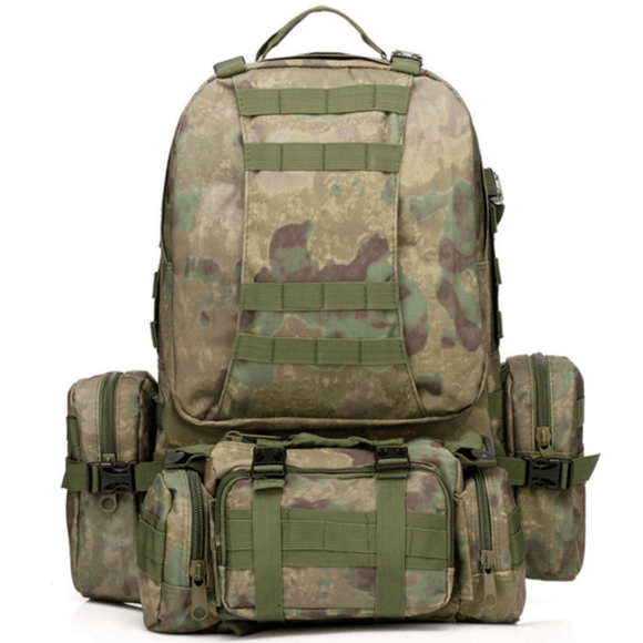 50L Military Outdoor Camping Hiking Camouflage Sports Shoulder Rucksack Backpack-Backpack