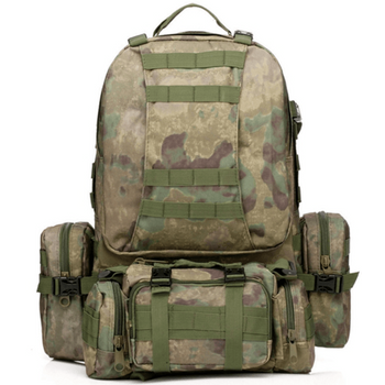 50L Rucksack Tactical Backpack And Outdoor Hiking Pack Sports Bag - LARNELEC