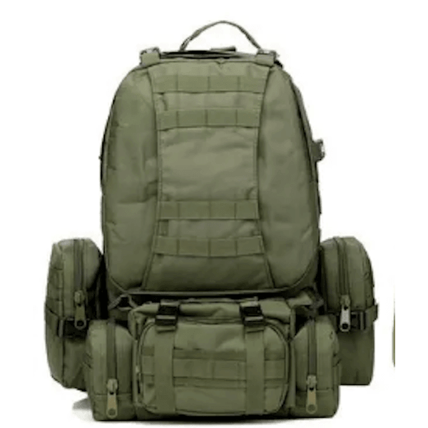 LARNELEC :50L Military Outdoor Camping Hiking Camouflage Sports Shoulder Rucksack Backpack,Army Green,Backpack