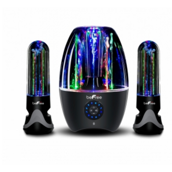 BeFree Multimedia Sound 2.1 Channel Bluetooth LED Dancing Water Sound System - LARNELEC