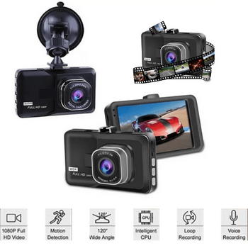 Black Box HD Dash Cam 1080P G-Sensor Looping Car Camera 120° Front Rear Recording-Dash Camera