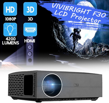 Full HD 1080P LCD Portable Projector-Home Theater Movie Projector Projector - LARNELEC