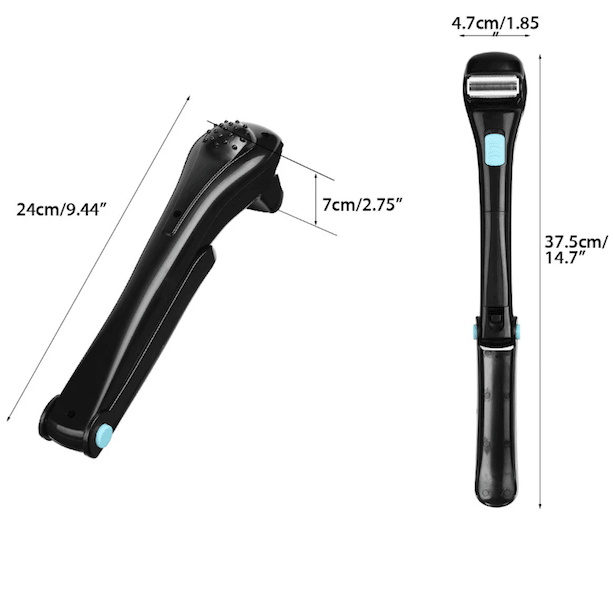Foldable DIY Electric Back Hair Shaver Trimmer Body Mens Shaving Groomer-Body Hair Shaver