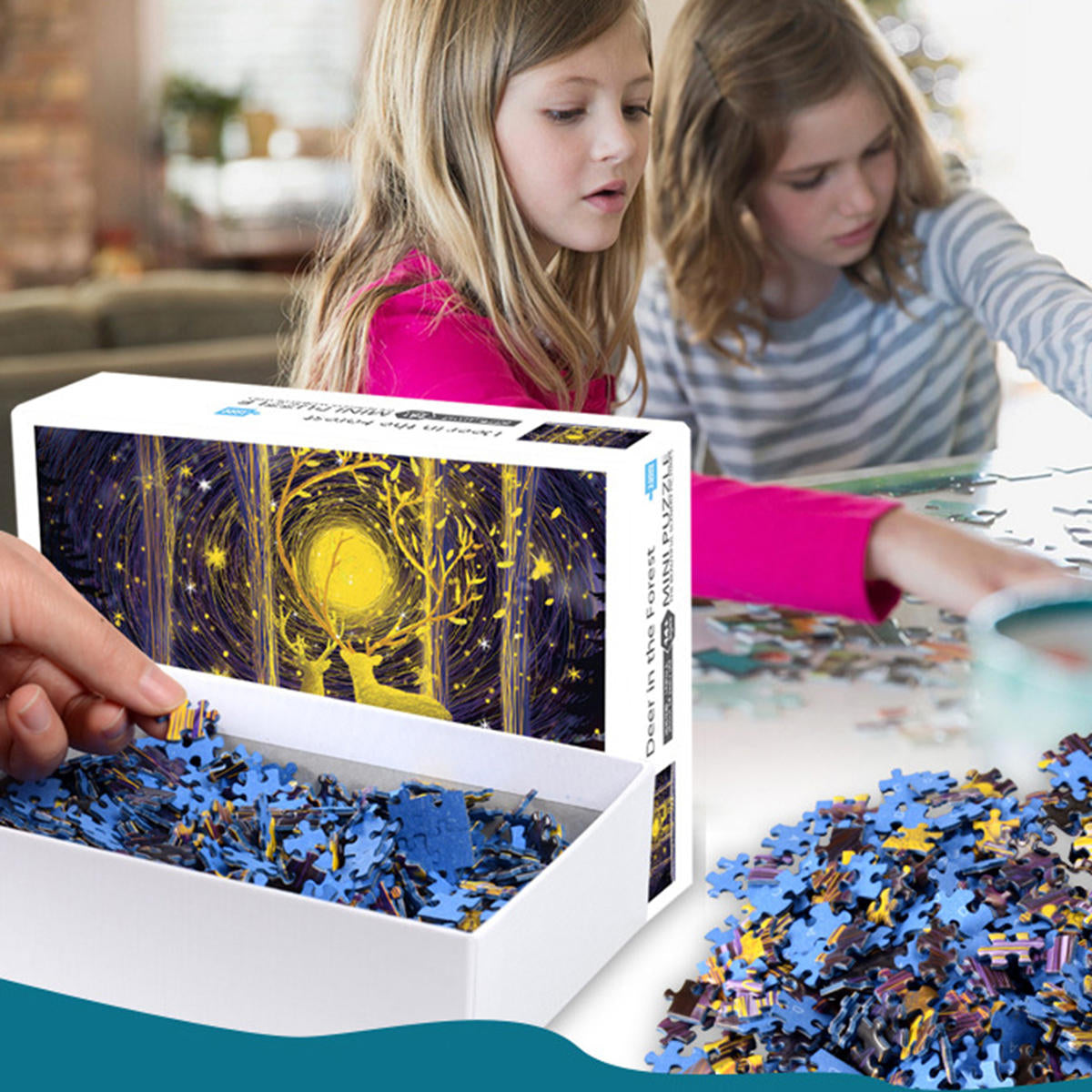 1000 Pieces Jigsaw Puzzles Educational And Entertainment Toys - LARNELEC