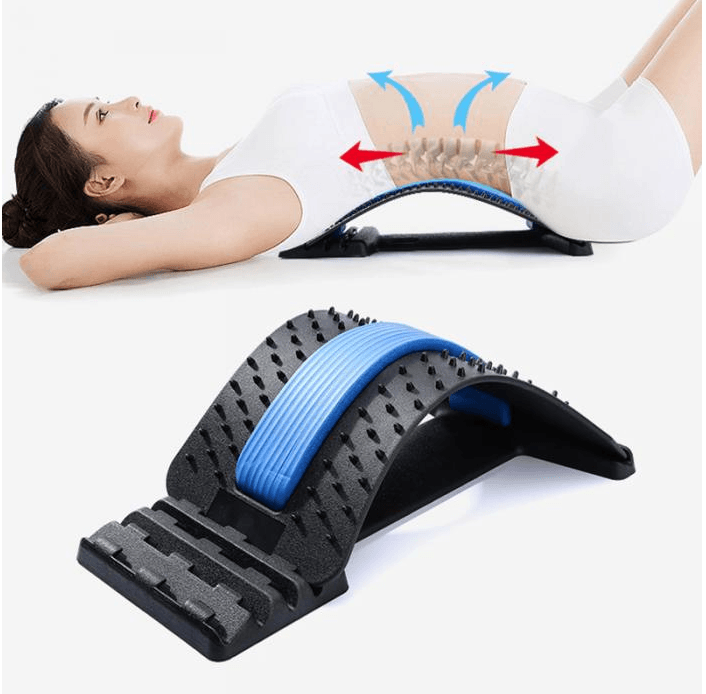 Multiple Level Fitness Lower Back Stretching Exercise And Support Device - LARNELEC