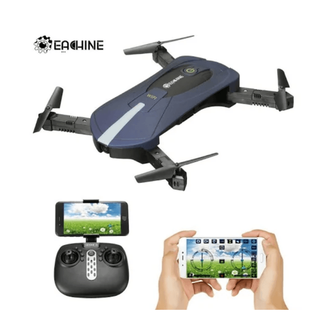 LARNELEC :Hypersky E52 WiFi Selfie Drone RTF-2MP Wide Angle HD 3D 360° Rolling,2MP Wide Angle Blue RFT,Drone
