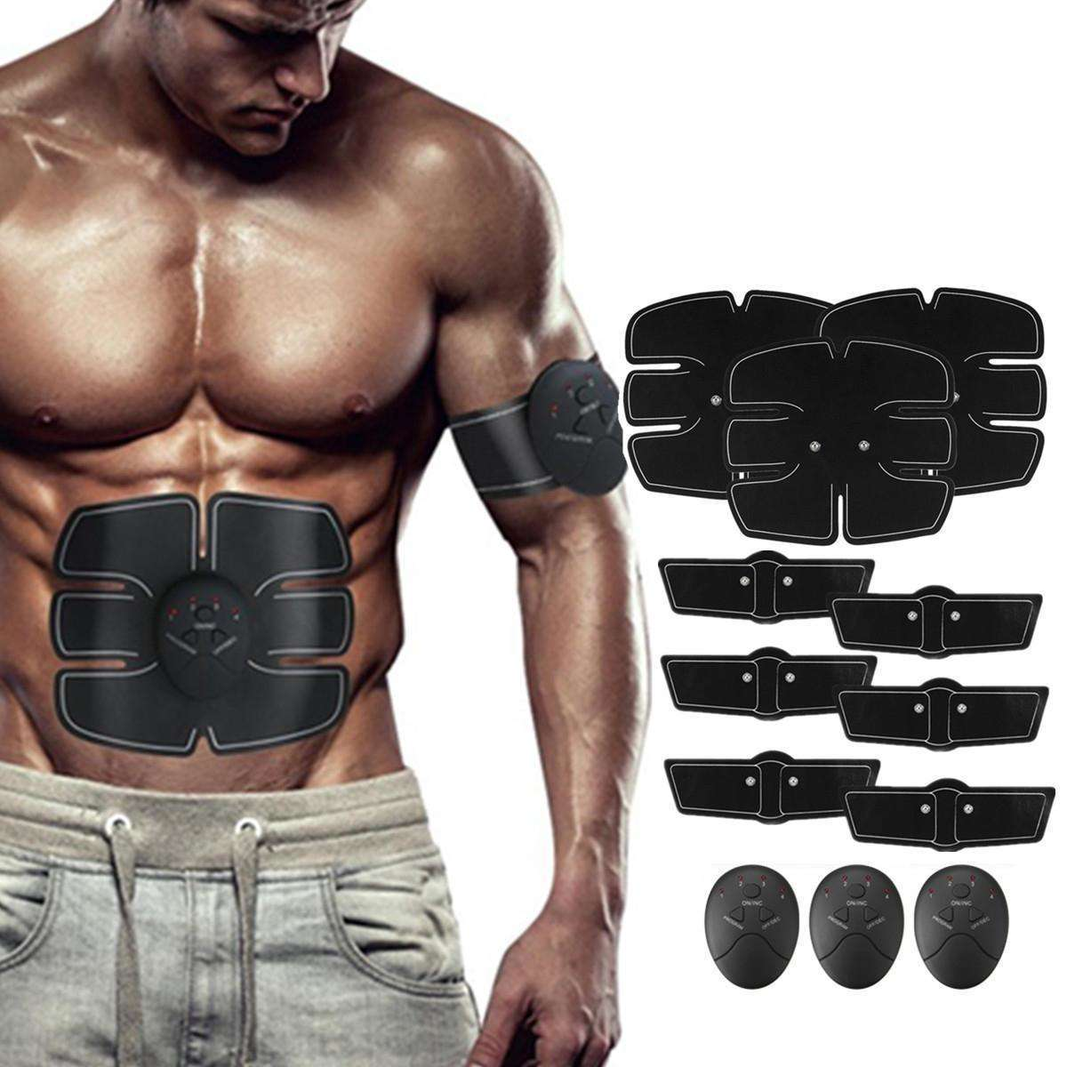 12PCS EMS Battery Operated Muscle Training Gear-EMS Muscle Trainer