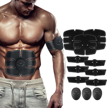 12PCS EMS Battery Operated Muscle Training Gear - LARNELEC
