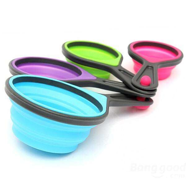 8pcs Colorful Collapsible Silicone Kitchen Measuring Tools-Kitchen measuring Set