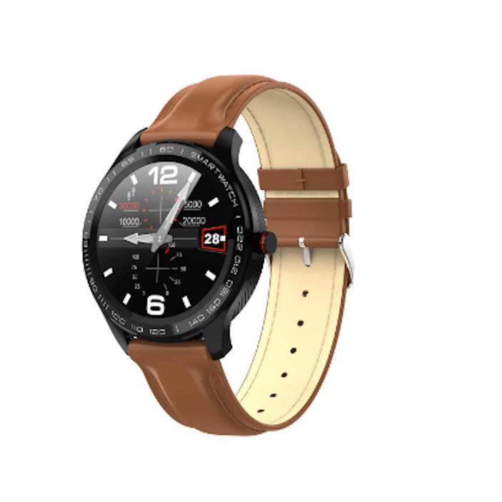 LARNELEC :SMartelec  L9 Full RTS Bezel ECG HR O2 IP68 Facebook Business Smart Watch,Brown,Smart Devices & Accessories