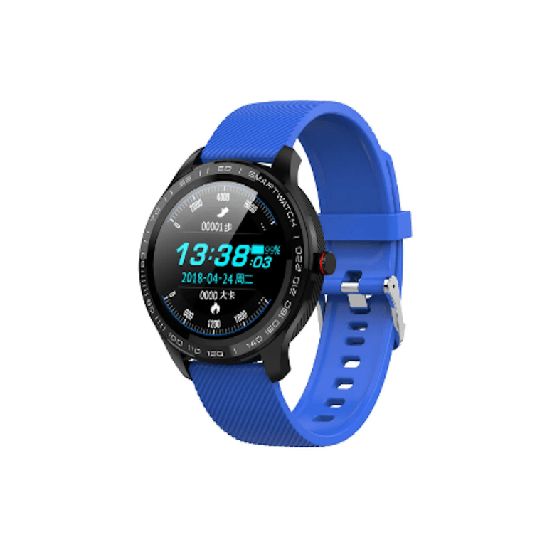 LARNELEC :SMartelec  L9 Full RTS Bezel ECG HR O2 IP68 Facebook Business Smart Watch,Blue,Smart Devices & Accessories