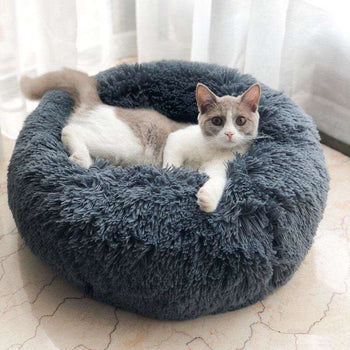 Super Cute Kennel Soft Warm Round Depth Cat/Dog Pet Bed-Pet Bed