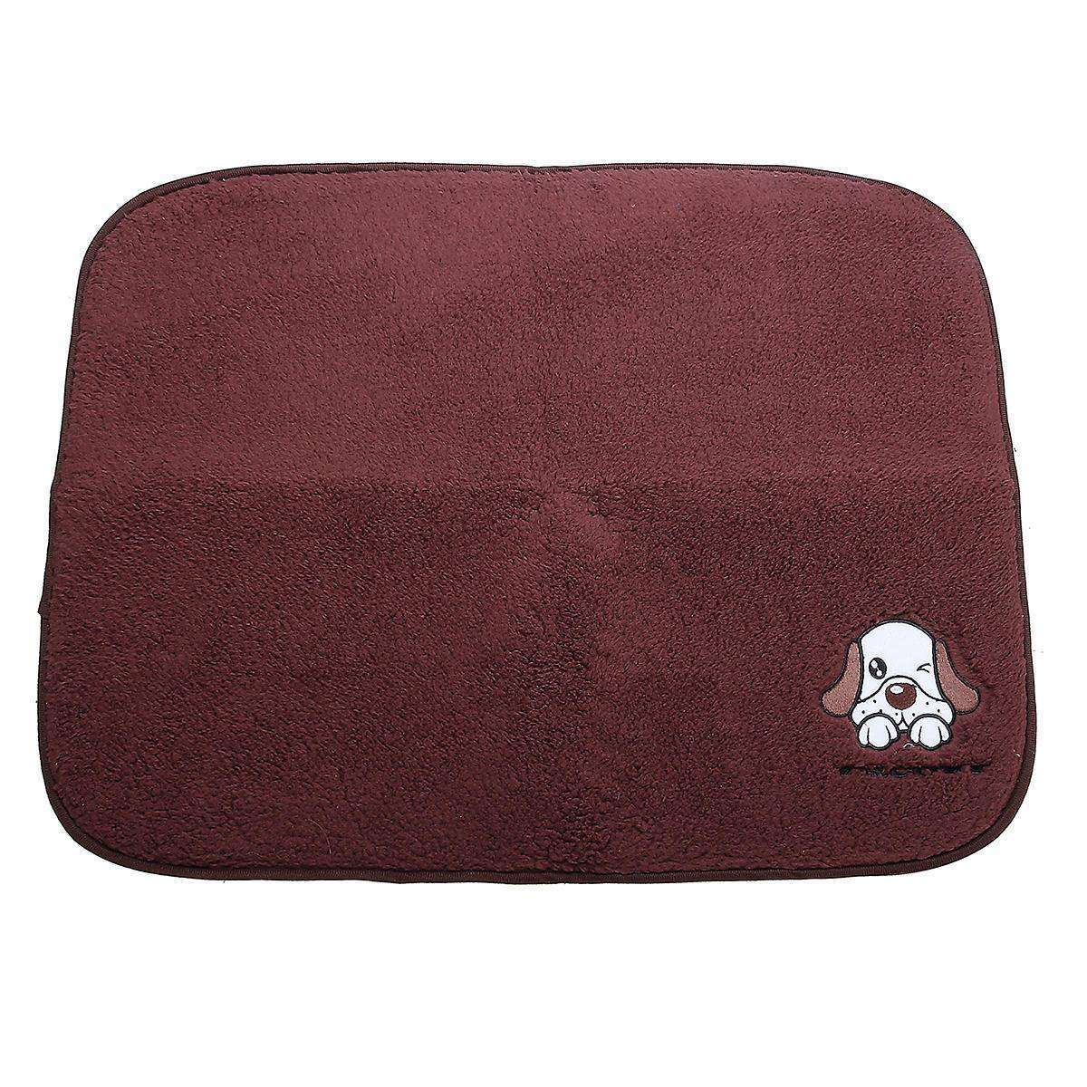LARNELEC :2 in 1 Dog Cat Pet Warm Sleeping Blanket And Cooling Bed Pad,Brown / L,Dog Mat