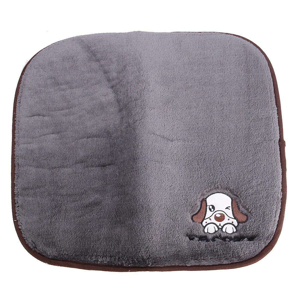 LARNELEC :2 in 1 Dog Cat Pet Warm Sleeping Blanket And Cooling Bed Pad,Grey / L,Dog Mat