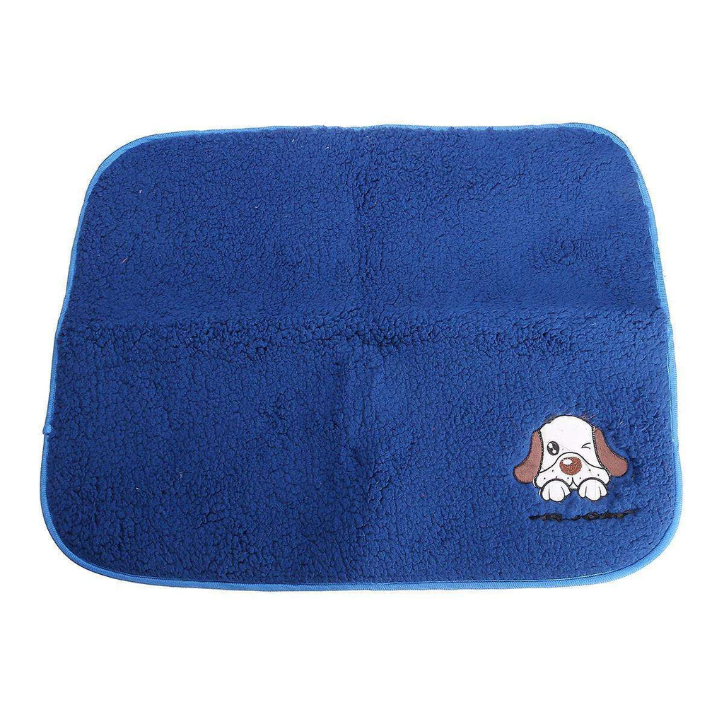 LARNELEC :2 in 1 Dog Cat Pet Warm Sleeping Blanket And Cooling Bed Pad,Blue / L,Dog Mat