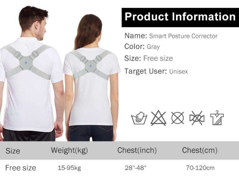 Adjustable Smart Back Brace Posture Corrector - LARNELEC