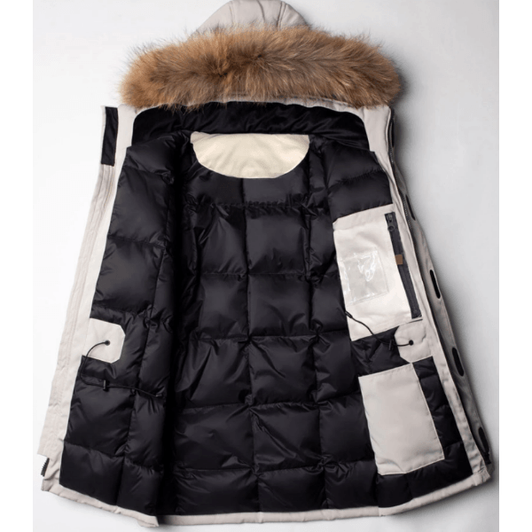 Fashion Fur Hood Goose Down Parka Winter Jacket For Men-Winter Collection
