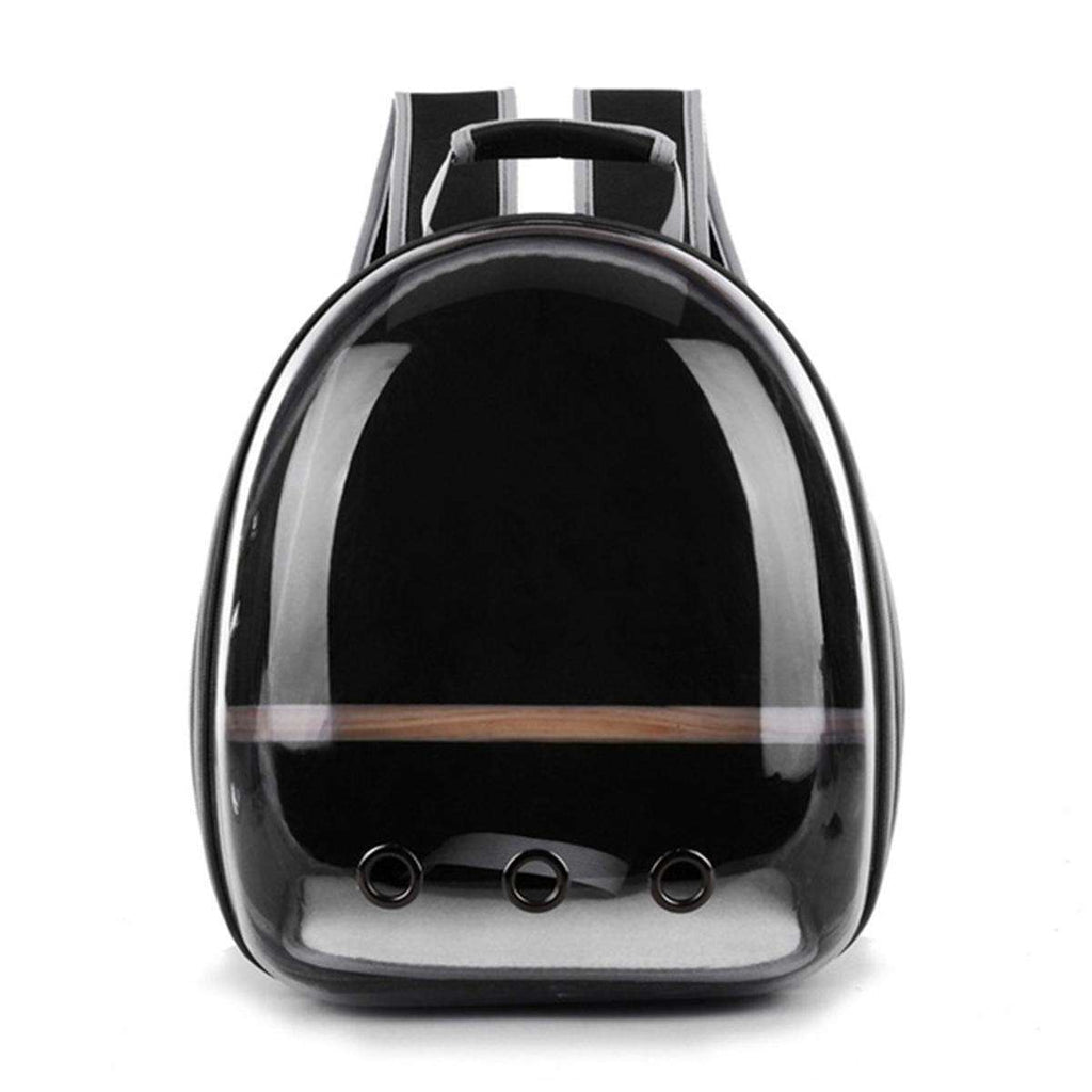 LARNELEC :Pet Cat Parrot Bird Transparent Breathable Travel Carrier Backpack,Black,Pet Backpack