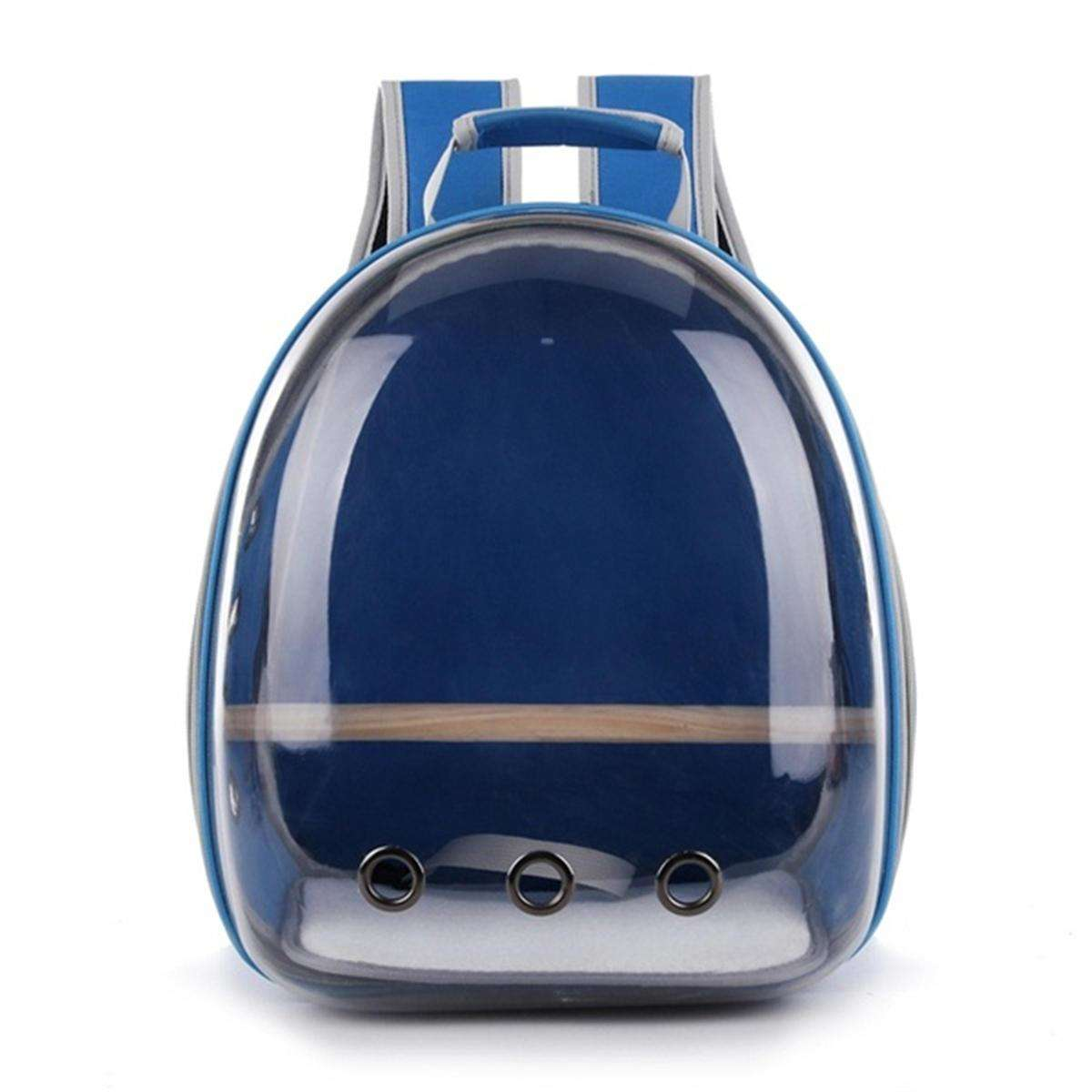 LARNELEC :Pet Cat Parrot Bird Transparent Breathable Travel Carrier Backpack,Navy,Pet Backpack