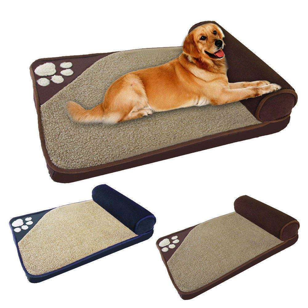 Pet Dog Bed Winter Warm Kennel Washable Sponge Cushion-Pet Mat Mattress-Dog Blanket