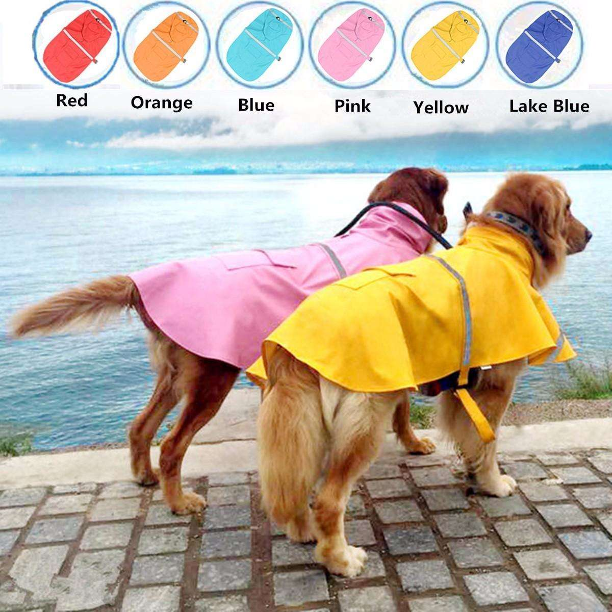 Professional Dog Waterproof Reflective Outdoor Raincoat Jacket-Dog Clothes