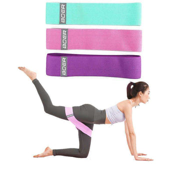 3Pcs  Home Fitness Resistance Bands Sport Gymnastics Training Body Shaping Yoga Belt - LARNELEC
