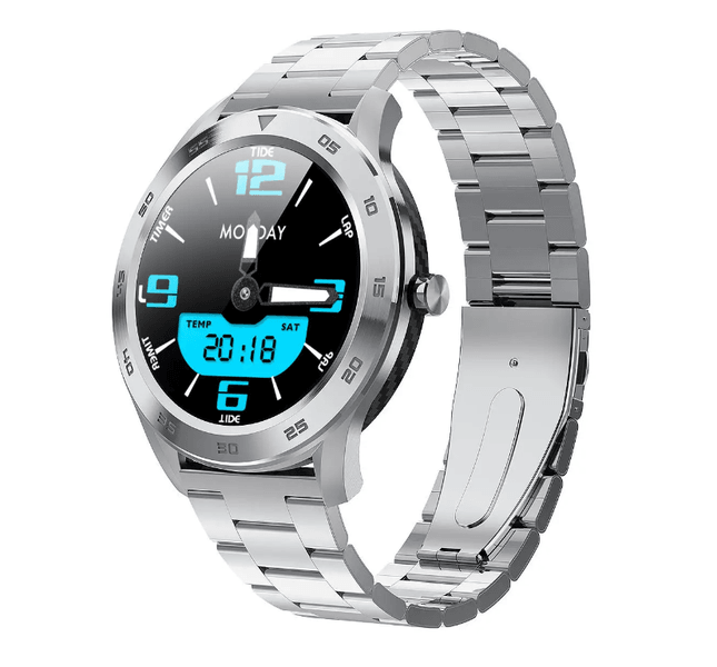 LARNELEC :SMartelec Full HD Screen Pedometer Wristband bluetooth Call ECG HR O2 Monitor Smart Watch - DT NO.1 DT98,Silver,Smartwatch