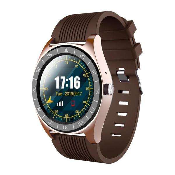 LARNELEC :V5 1.54in Full Touch Screen Support Sim Card BT Call SM Watch Fitness Bracelet,Brown,Smart Devices & Accessories