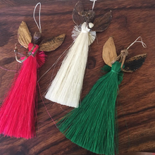 "Load image into Gallery viewer, Raffia ""Merry"" Angel Ornaments"