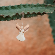 "Load image into Gallery viewer, Small Raffia ""Merry"" Angel Ornaments"