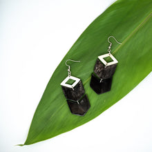 Load image into Gallery viewer, Kimaka Chevron Drop Earrings.