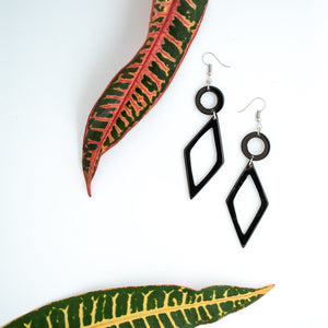 Kimaka Diamond-shaped Drop Earrings.