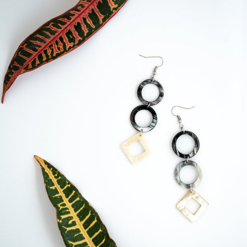 Kimaka Statement Drop Earrings.