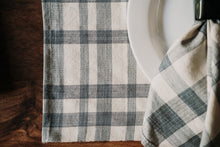 Load image into Gallery viewer, Blue & Cream Plaid Woven Placemats (set of 4)
