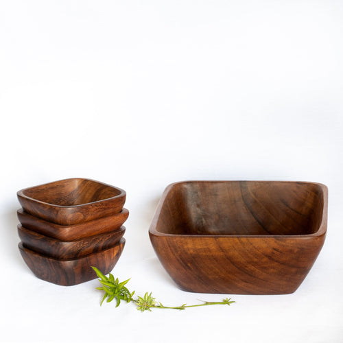 5-Piece Handcrafted Serving Bowl Set.