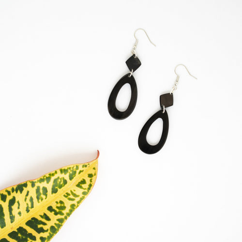 Kimaka Diamond Loop Earrings - Amaka Africa