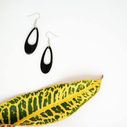 Kimaka Narrow Loop Earrings - Amaka Africa