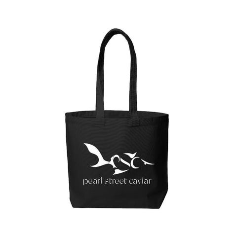 Eat Caviar Tote - Black