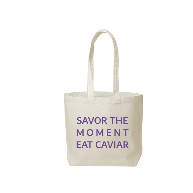 Eat Caviar Tote - Natural