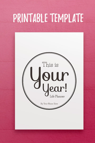 YY: This is Your Year Cover Page InDesign Template